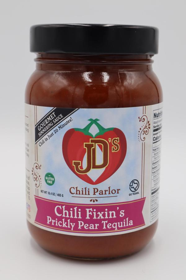 JD's Chili Parlor Prickly Pear Tequila Chili Fixins