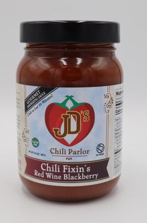 JD's Chili Parlor Red Wine Blackberry Chili Fixins