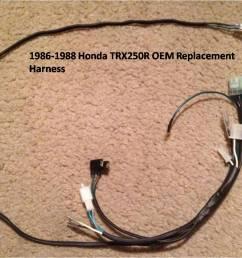 1989 honda trx250r wire harness jds customs1989 honda trx250r wire harness [ 1202 x 902 Pixel ]