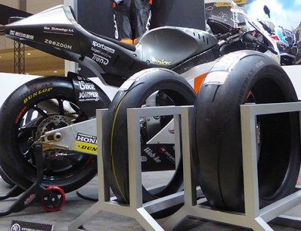 東京モーターサイクルショー 最新のタイヤも多数ラインアップ