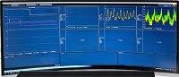 住友ゴム-自動運転車からの送信データ管理画面(左からタイヤ空気圧、ステアリング角度、速度、位置情報)