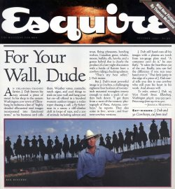 October 1992 Esquire Magazine article on J. Dub