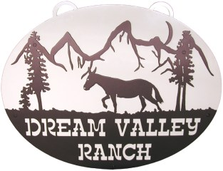 Ranch Sign - Dream Valley Ranch - Oval