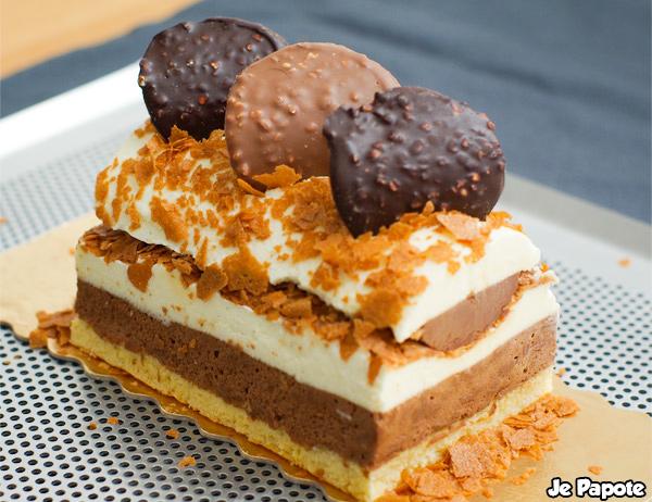 Buche De Noel Chocolat Vanille Caramel