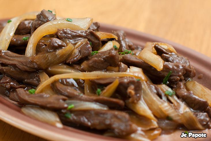 Boeuf aux Oignons cuisine chinoise