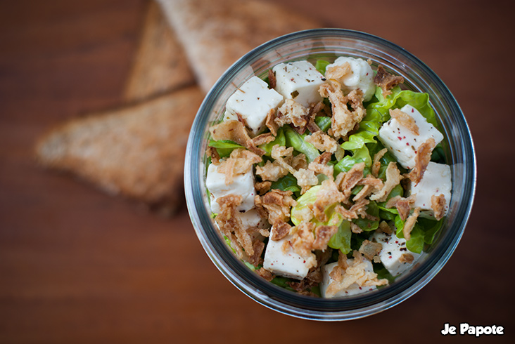 Salade compose in a jar  Je Papote