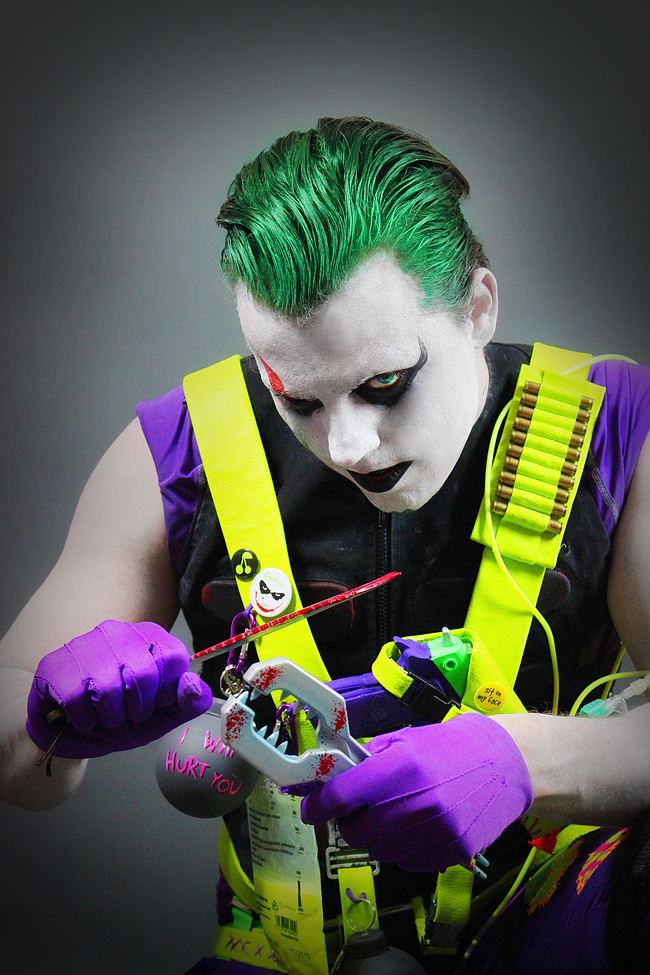 Neon Invader meets The Joker - Suicide Squad