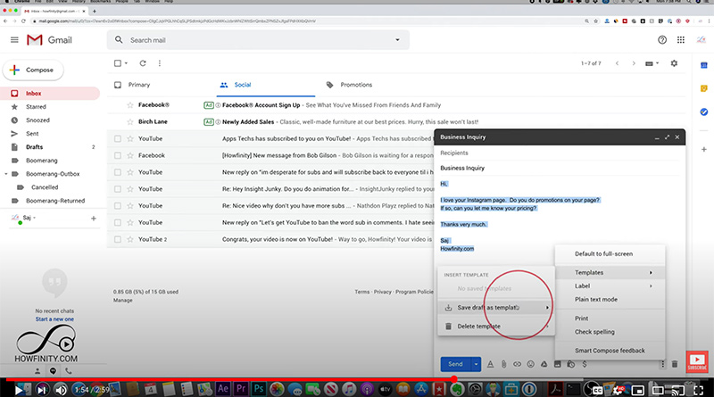 1) copy someone's email template by clicking on a button. Create An Email Template In Your Gmail Account To Easily Answer Recurring Questions Or Sending Recurring Messages Jeadigitalmedia Org