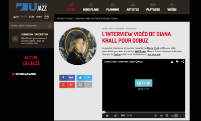L'interview de Diana Krall par Qobuz est sur Club U Jazz