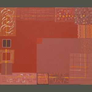 Tableau Cadre multiforme et rouge autour de quelque chose de rouge