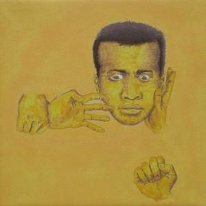 Tableau Portrait jaune numéro 5