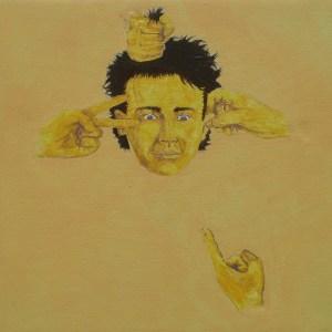 Tableau Portrait jaune numéro 6
