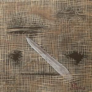 Tableau Ça se passe derrière : dague