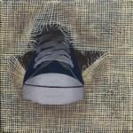 Tableau Ça se passe derrière : chaussure