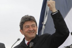 Jean-Luc Melenchon, France's parti de Gauche leader and candidate for the legislative elections, reacts to supporters in Henin-Beaumont, where he was defeated,