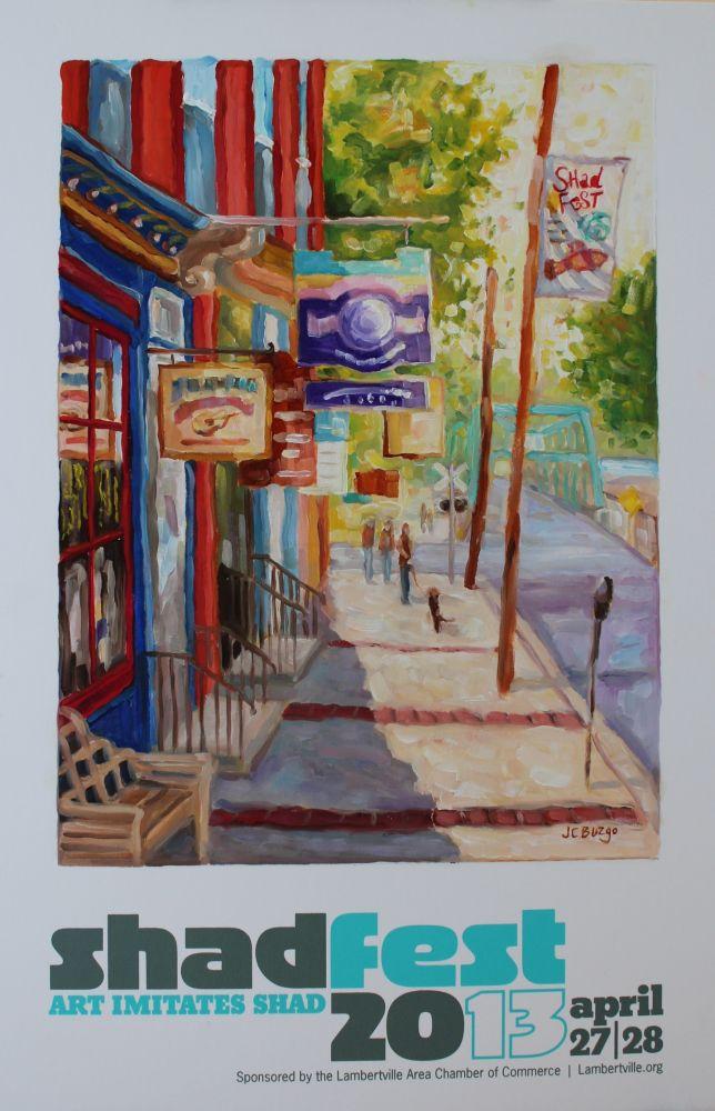 Shad Fest Poster, Downtown Lambertville, NJ