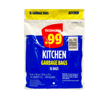 kitchen garbage bags light 16 units economie scouring pad jean coutu image of product