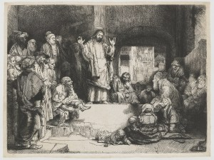 Christ preaching on confessing and forgiving