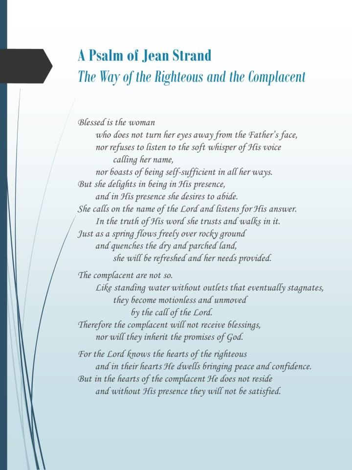 Torah Psalm by Jean Strand