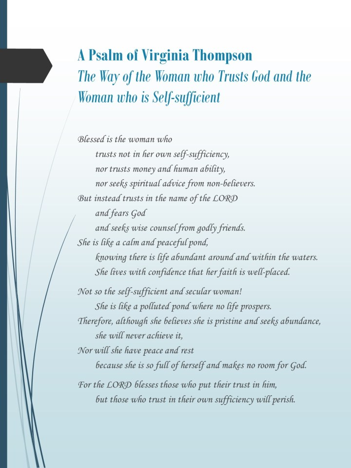Torah Psalm by Virginia Thompson