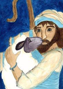 Scripture art Psalm 23 Annie Magee