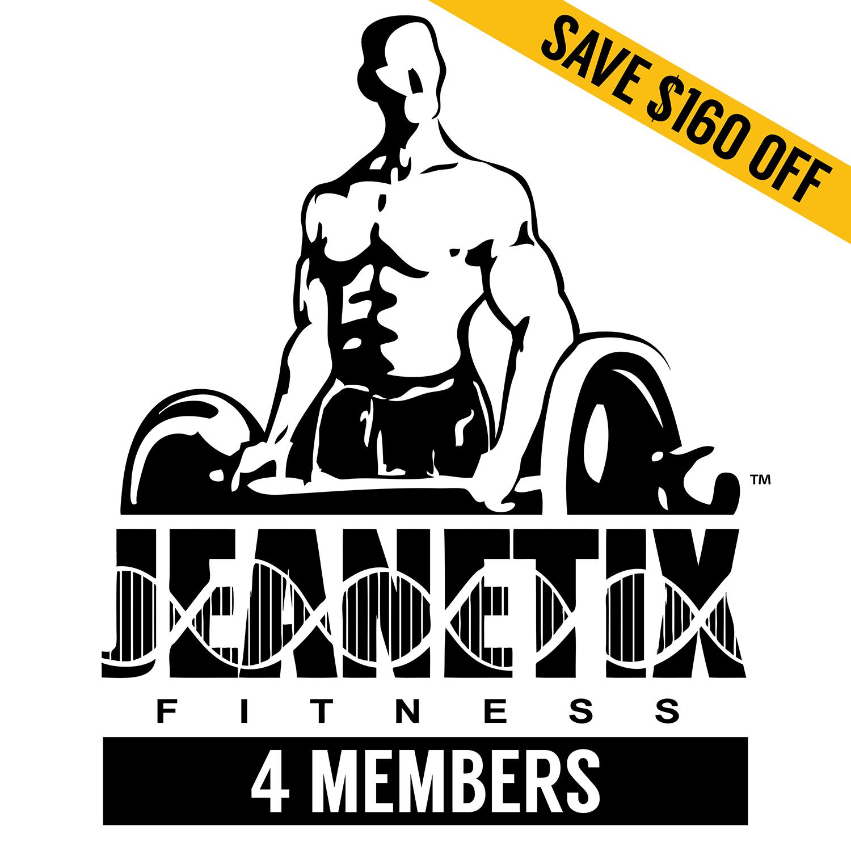Save $160 Fitness Training Family Program for 4 Members