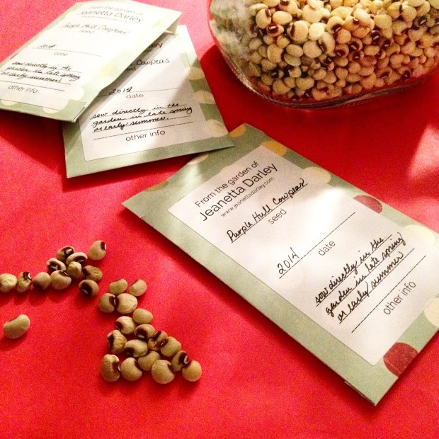 Seed Packets and cowpeas