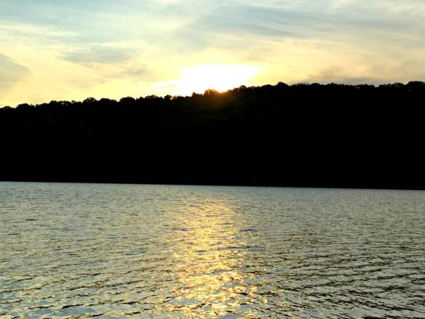 Sunrise at Beaver Lake in Northwest Arkansas