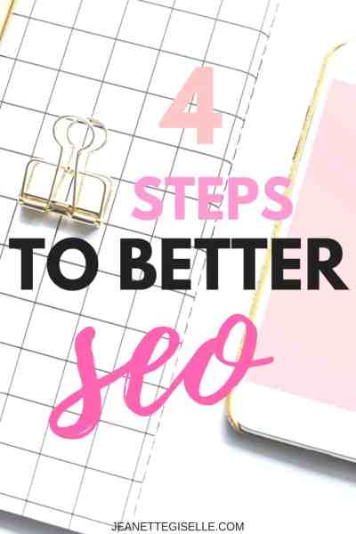 4 Easy Steps to SEO for blog posts! Don't let your Wordpress blog suffer by not implementing SEO. Read this post to start using SEO today!   Blogging for Beginners Wordpress