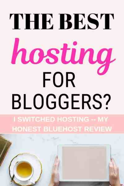 Want to start a blog but aren't sure what the best hosting choice is? Click to read my honest review on Bluehost, why I switched and where to. The answer may surprise you! (I'll give you a guess, it's not Siteground) Find out what the best web hosting site for blogs is.
