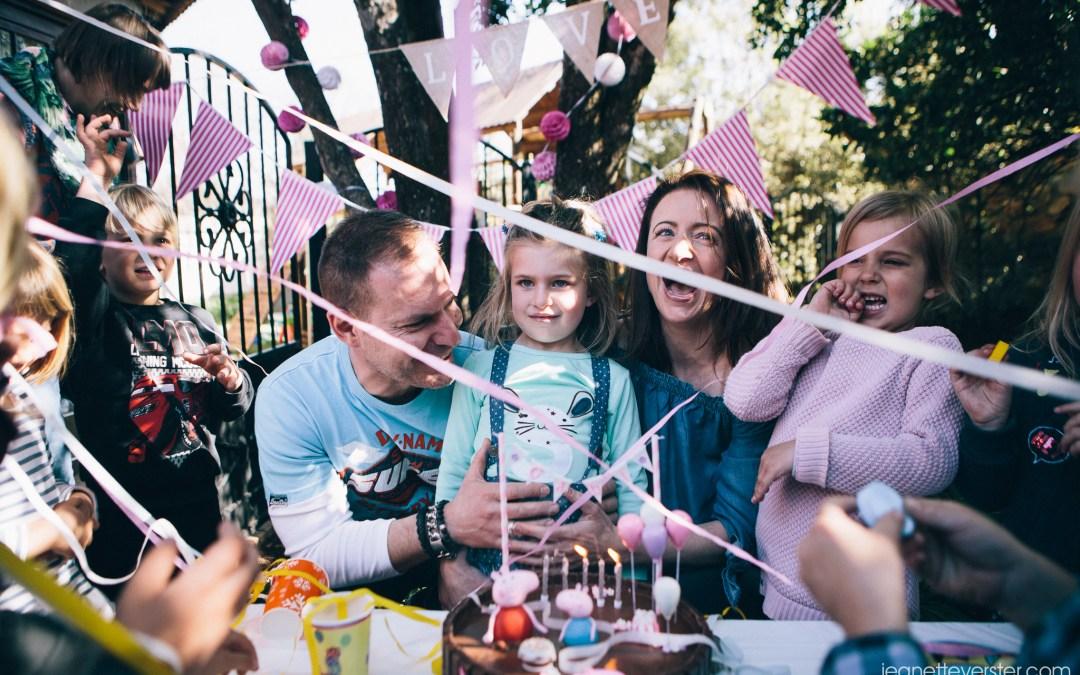 Gabi's Peppa Pig birthday party at home