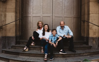 A family shoot in the CBD