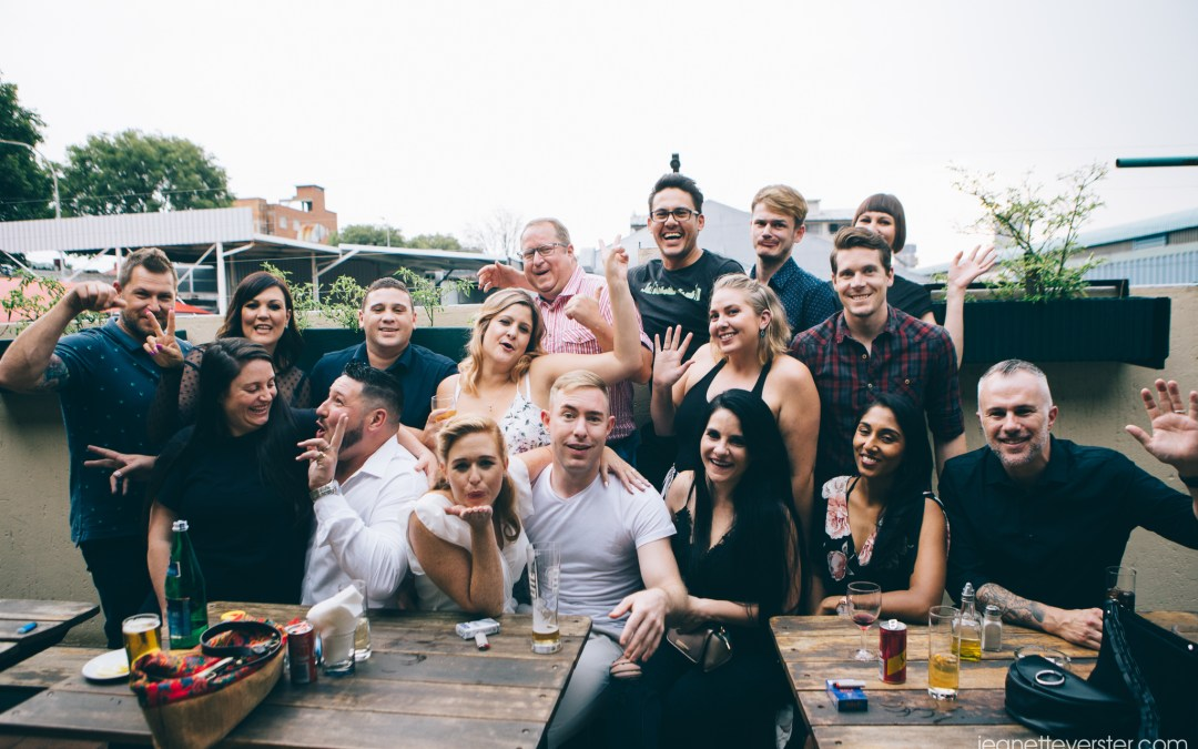 Gwen and Mark's casual wedding at the Troyville Hotel