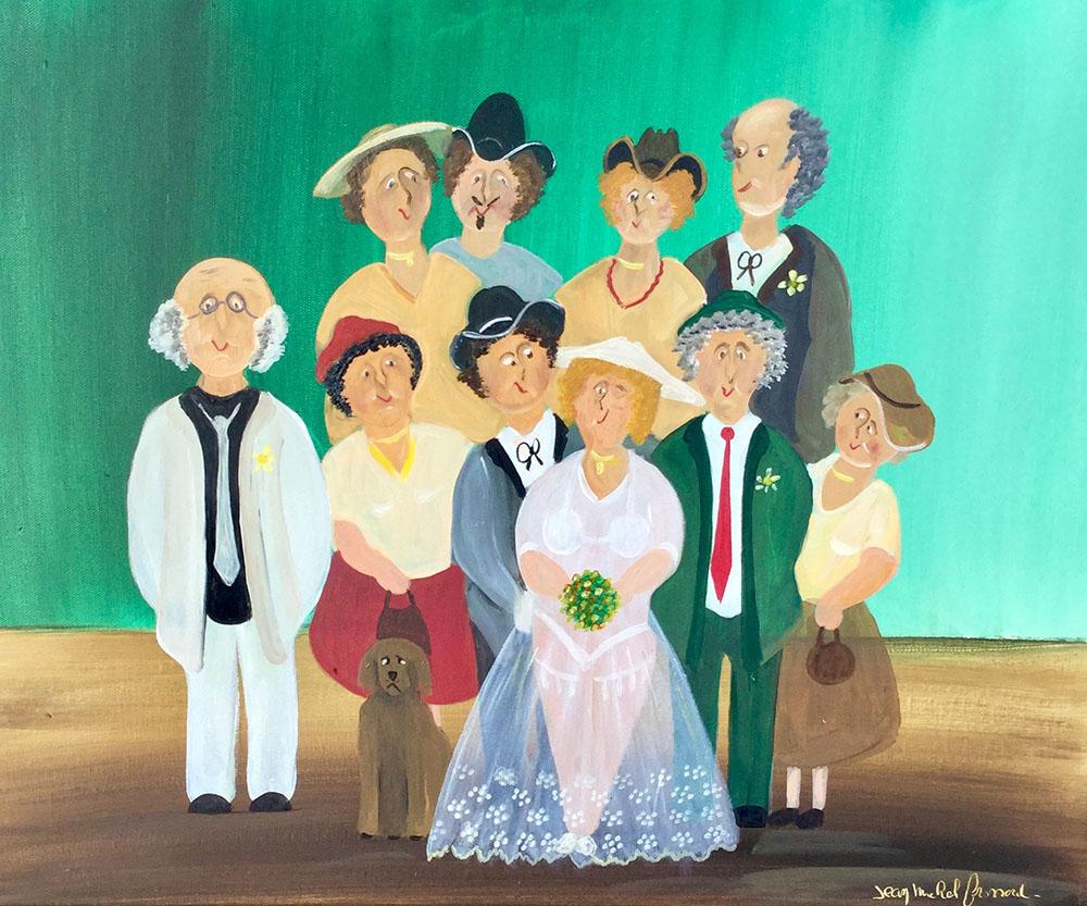 Peinture naïve Scène de mariage