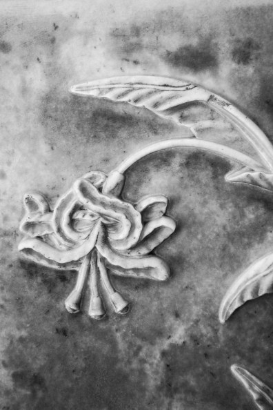 Detail of a marble bas relief panel
