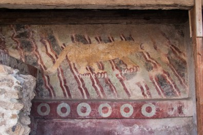 Jaguars were an important symbol in this civilization, and they were featured in many of the murals. They were also featured in the offerings of the ubiquitous souvenir sellers, in the form of whistles that made a jaguar sound. These were a great favorite among young boys visiting the Pyramids.