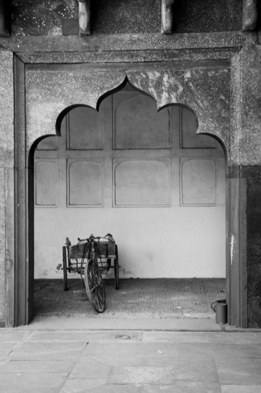 Arch and Bicycle Cart