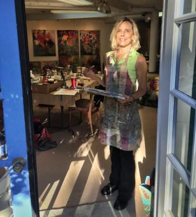 Jeanne in the studio