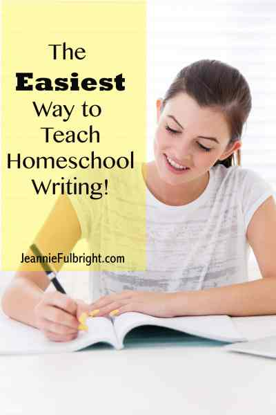 Homeschool student writing