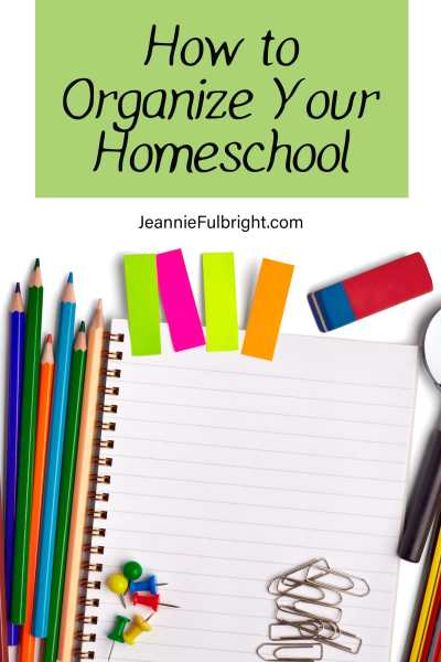Homeschool organization supplies