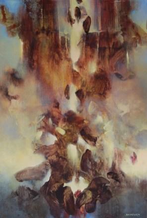 Le chaos dissipé (acrylique sur toile 73 x 50 cm)