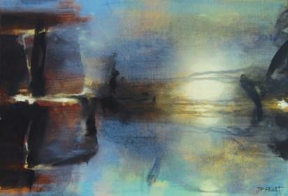 Le passeur (acrylique sur toile 38 x 55 cm)