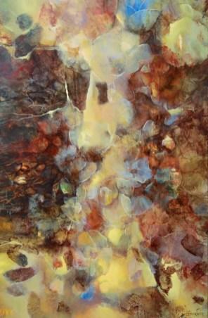 Nées de l'ombre (acrylique sur toile 100 x 65 cm)