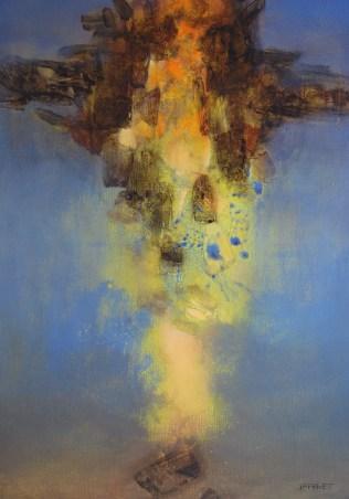 Nocturne (acrylique sur toile 100x65 cm )