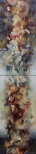 Récolte (diptyque acrylique sur toile 120 x 30 cm)