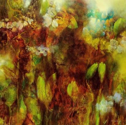 Printemps (huile sur toile 50 x 50 cm)