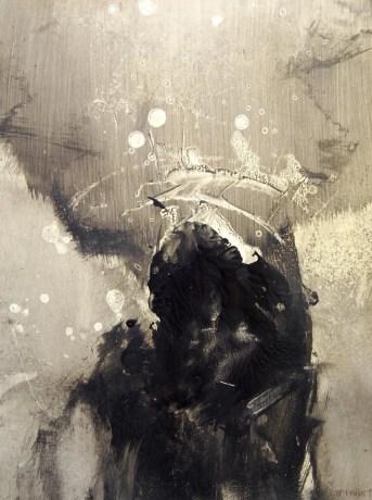 Série _de l'ombre à la lumière_(acrylique sur papier 42 x 29,7 cm)
