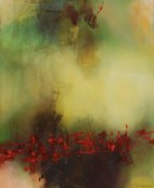 Terre sanglante (acrylique sur toile 73 x 60 cm)