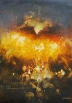 """Série """"De l'ombre à la lumière"""" (acrylique sur toile 42 x 29,7 cm)"""