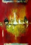 Petit temple rouge II (acrylique sur toile 55 x 38 cm) 2016